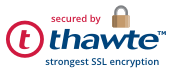 Secured by thawte SSL encryption