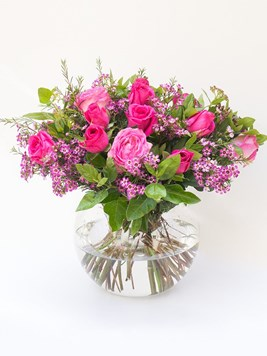Arrangements: The Pink Rose Bowl