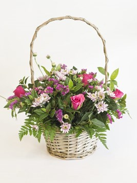 Arrangements: Pastel Pink Basket